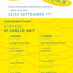 27 luglio 2017: invito conferenza stampa – terza edizione IL SENSO DEL RIDICOLO
