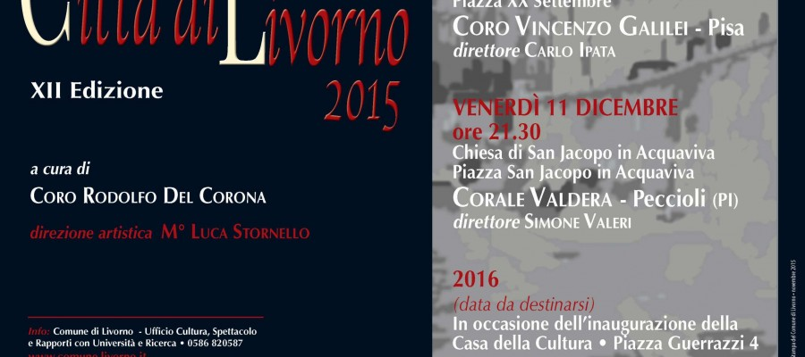 Rassegna di Polifonia Vocale Città di Livorno 2015