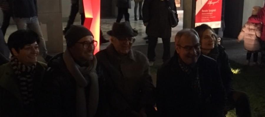 """Inaugurazione dell'opera di Renato Spagnoli """"Grido Rosso"""""""