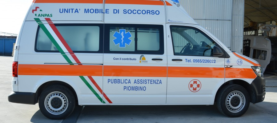 Inaugurazione ambulanza Pubblica Assistenza Piombino